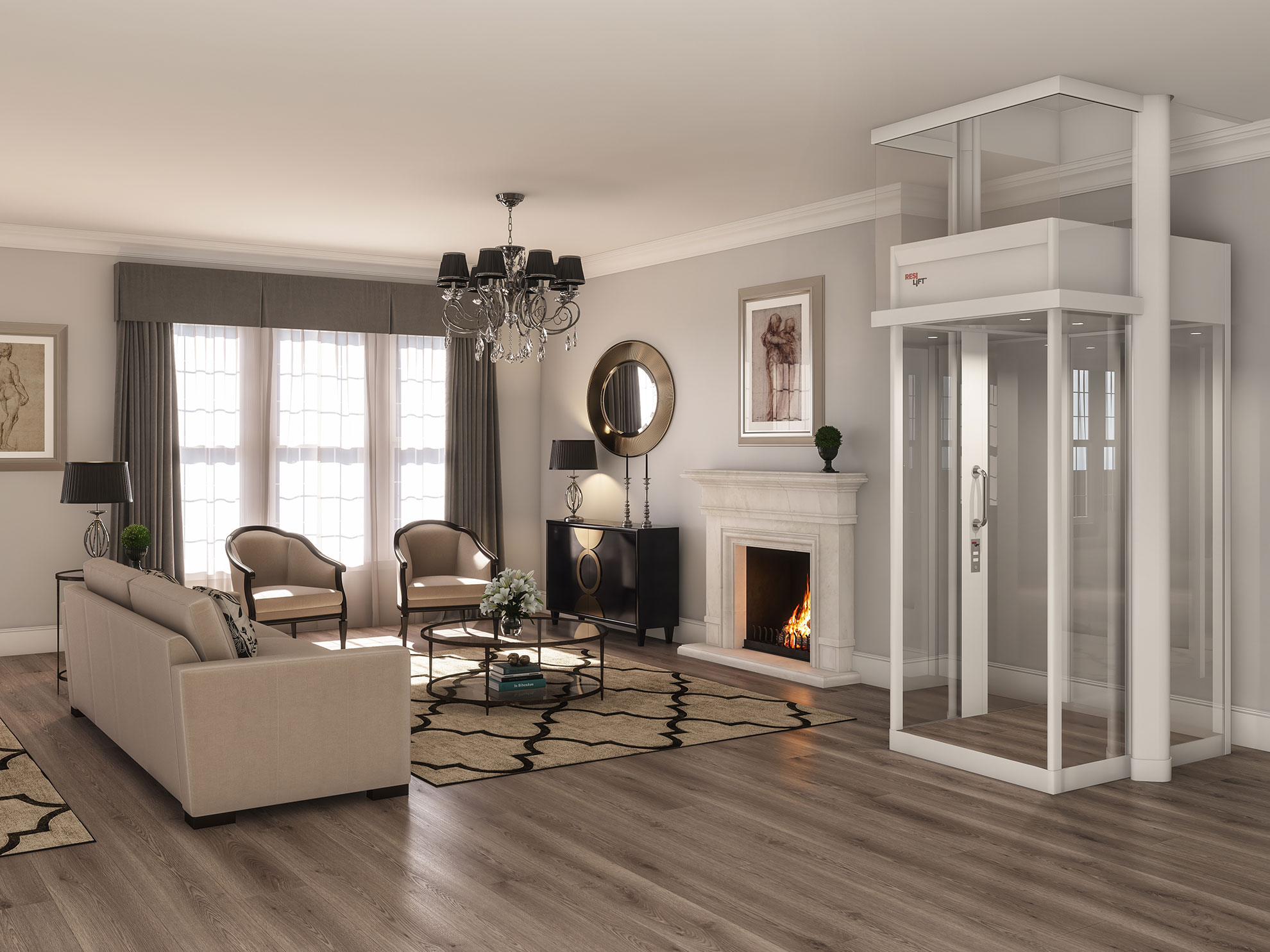 Miracle Resilift fireplace residential lift